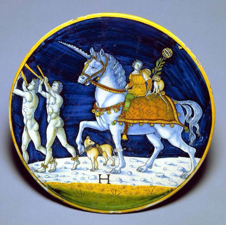 Cafaggiolo -unicorn-horns-the-unicorn