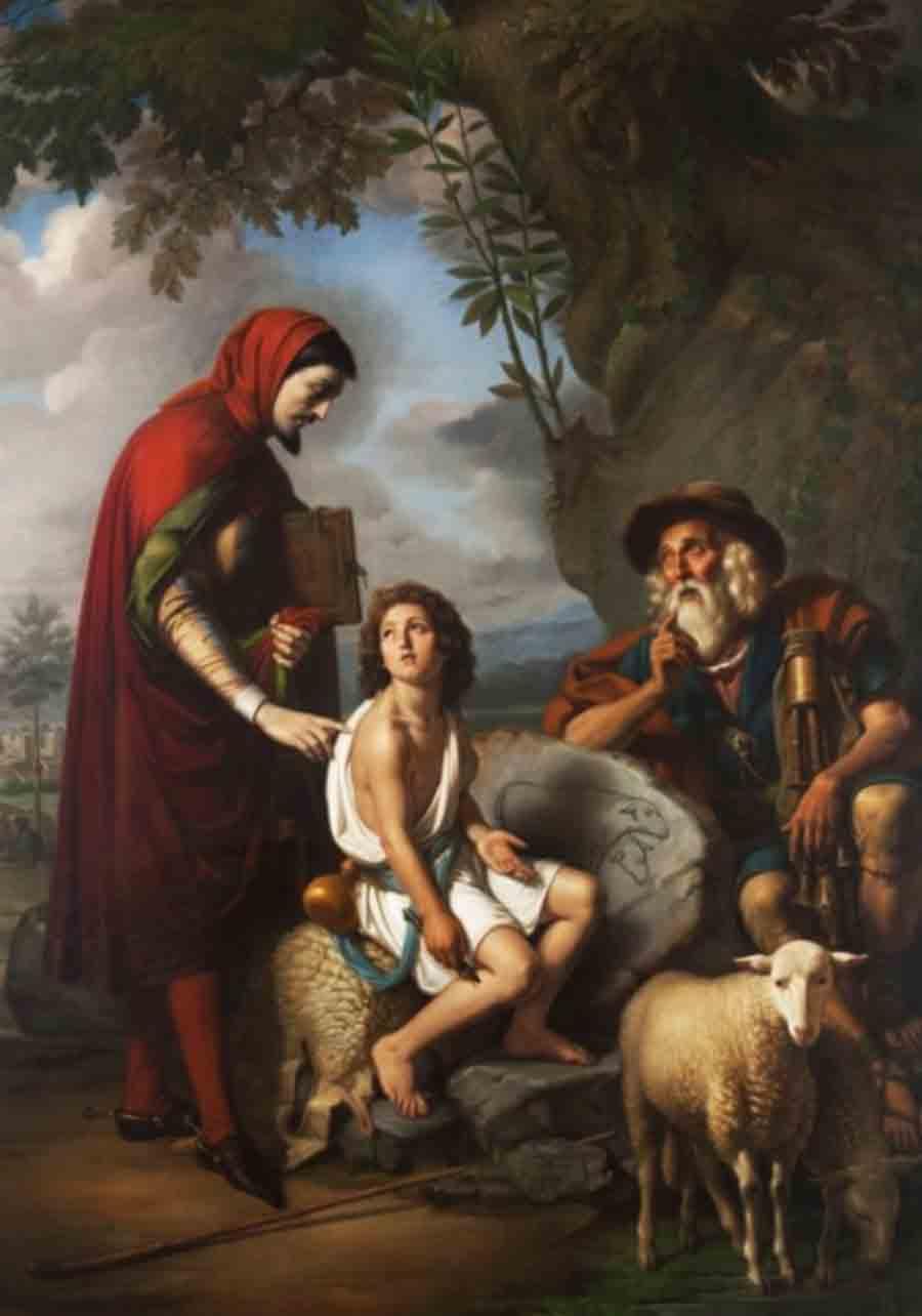 De Vivo, Tommaso (1790-1884) Giotto e Cimabue (1843) – Caserta, Museo del Palazzo Reale