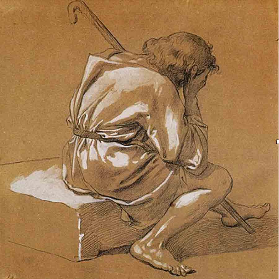Giuseppe Bezzuoli (1784-1855) La partenza di Giotto - Collezione privata