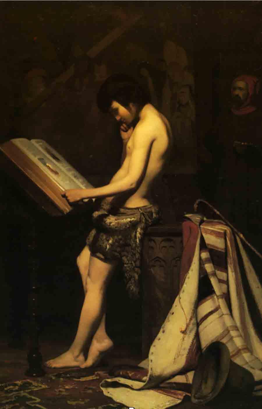Ziegler, Jules (1804-1856) Giotto dans l'atelier de Cimabue (1847 ca.) - Bordeaux, Musée de Beaux-Arts