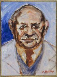 Nicola Lisi ritratto da Ottone Rosai, 1954 1955, olio su tela, Museo Novecento di Firenze