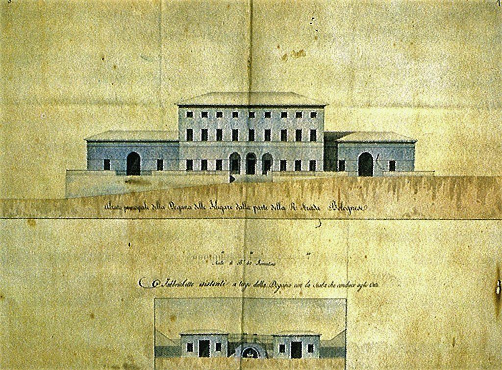 Prospetto della Dogana delle Filigare, al confine tra Emilia Romagna e Toscana